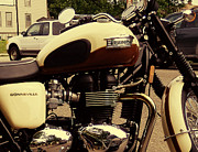 Triumph Framed Prints - Triumph Detail Framed Print by Rashelle Brown