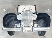 Vehicle Drawings Posters - Triumph Poster by Eva Ason