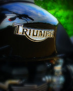 Motorcycle Posters - Triumph Poster by Perry Webster