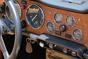 Antiquated Framed Prints - Triumph TR 6 Dashboard Framed Print by Mary Deal