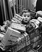Shopping Cart Prints - Trolley Boy Print by Kurt Hutton