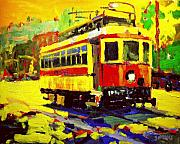 Traffic Paintings - Trolley by Brian Simons