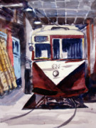 Trolley Paintings - Trolley Maintenance by Ron Stephens