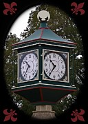 Clock Hands Framed Prints - Trolley Park Clock Framed Print by DigiArt Diaries by Vicky Browning