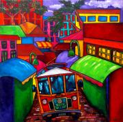 Trolley Paintings - Trolley by Patti Schermerhorn