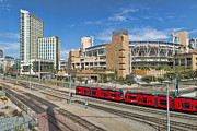 Trolley To Petco Park Print by Alan Crosthwaite