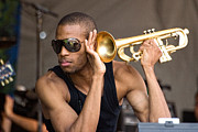 Jazz Fest Framed Prints - Trombone Shorty Framed Print by Terry Finegan