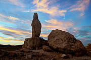 Timeline Framed Prints - Trona Pinnacle Sentinal Framed Print by Bob Christopher