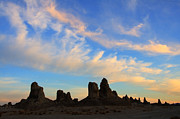 Timeline Framed Prints - Trona Pinnacles At Sunset Framed Print by Bob Christopher
