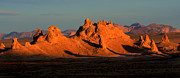 Dry Lake Photo Metal Prints - Trona Pinnacles Panorama Metal Print by Bob Christopher
