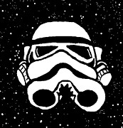 Jera Sky Posters - Trooper on Starry Sky Poster by Jera Sky
