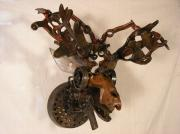 Farm Sculpture Originals - Trophy Head Moose by Chris Jaworski
