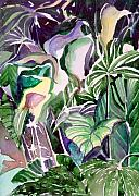 Botanicals Metal Prints - Tropic Lights Metal Print by Mindy Newman