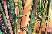 Bamboo Metal Prints - Tropical Bamboo Metal Print by Marionette Taboniar