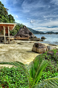 Pangkor Laut Framed Prints - Tropical Beach Framed Print by Adrian Evans