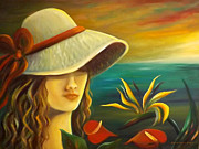 Gina Gray Paintings - Tropical Beauty by Gina De Gorna