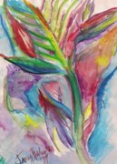 Bird Of Paradise Drawings - Tropical Bliss by Jamey Balester