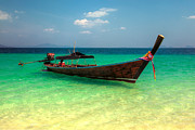 Thai Prints - Tropical Boat Print by Adrian Evans