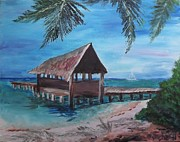 Judy Via-wolff Art - Tropical Boathouse by Judy Via-Wolff