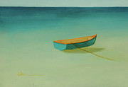 Diane Cutter Painting Posters - Tropical Calm Poster by Diane Cutter