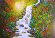 Lyn Deutsch Art - Tropical Cascades by Lyn Deutsch
