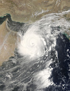 Oman Prints - Tropical Cyclone Gonu In The Arabian Print by Stocktrek Images