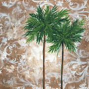 Silhouette Painting Posters - Tropical Dance 4 by MADART Poster by Megan Duncanson