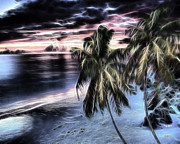 Ocean Images Photo Posters - Tropical Evening Poster by Cheryl Young