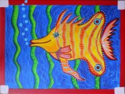 Geek Painting Prints - Tropical Fish Print by Claudia Tuli