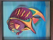 Carved Reliefs Originals - Tropical fish by Eduardo Paz