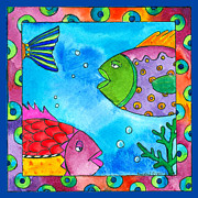 Fish Underwater Paintings - Tropical Fish by Pamela  Corwin