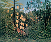 St.henri Framed Prints - tropical Forest By Henri Rousseau Framed Print by Photos.com