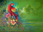Tropical Paintings - Tropical Green by Keith Stillwagon