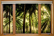 Stock Images Prints - Tropical Jungle Paradise Window Scenic View Print by James Bo Insogna