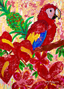 Macaw Mixed Media - Tropical Life by William Depaula