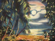 Molleur Painting Posters - Tropical Nights Poster by Suzanne  Marie Leclair