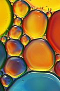 Macro Photos - Tropical Oil and Water II by Sharon Johnstone