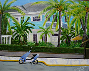Scooter Paintings - Tropical Paradise by Bruce Reigle