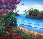 Central America Paintings - Tropical Paradise by Sarah Hornsby