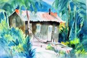 Shack Mixed Media - Tropical Retreat by Barbara Jung