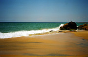 India Art - Tropical sandy beach by Jasna Buncic