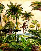 Johnkeaton Paintings - Tropical Scene by John Keaton