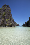 El-nido Prints - Tropical Scenic Of Small Lagoon Print by Design Pics / Deddeda