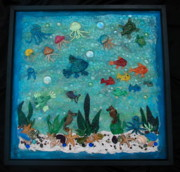 Clay Glass Art - Tropical Seas by Sheri Thrift Roberson