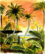 John Keaton Paintings - Tropical Skies by John Keaton