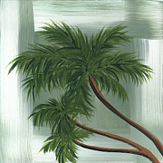 Green Foliage Posters - Tropical Splash 1 by MADART Poster by Megan Duncanson