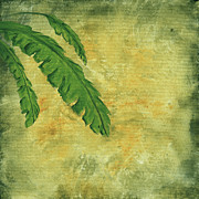 Green Foliage Posters - Tropical Splash 2 by MADART Poster by Megan Duncanson