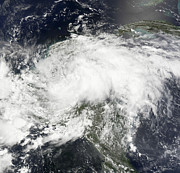Tropical Storm Arthur Print by Stocktrek Images