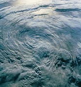 Tropical Storm Prints - Tropical Storm Iniki Seen From Space, Sts-47 Print by Nasa