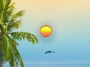 Bahamas Digital Art Framed Prints - Tropical Sun Framed Print by Bill Cannon